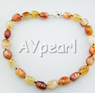 Wholesale Gemstone Jewelry-fillet agate necklace