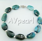 Wholesale Gemstone Jewelry-botswana agate necklace