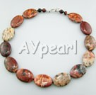 Wholesale Gemstone Jewelry-red jasper necklace