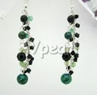 Wholesale black crystal phenix stone necklace