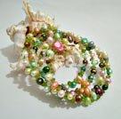 Färgade Pearl Armband