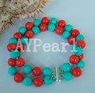 Wholesale coral Turquoise bracelet