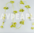 Wholesale olivine crystal necklace