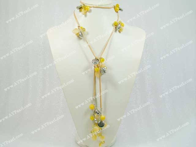 citrine cat's eye necklace