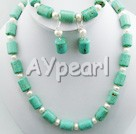 Wholesale turquoise pearl set