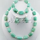Wholesale turquoise pearl set
