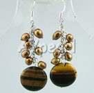 Wholesale Tiger eye earring