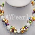 Wholesale pearl crystal necklace