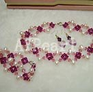 Wholesale Austra crystal pearl set