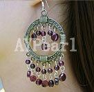 Wholesale garnet earring