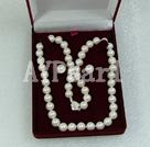 Wholesale 7-8mm white freshwater pearl set