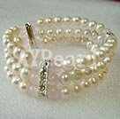 pearl Rosenkvarts armband