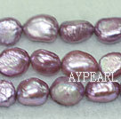 Baroque freshwater pearl beads, 8-9mm. Sold per 15-inch strand.