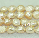 Baroque freshwater pearl beads,Natural Pink,8-9mm