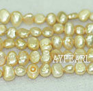 Potato shape freshwater pearl beads,Champagne,5-6mm
