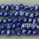 Potato shape freshwater pearl beads,Violet,5-6mm