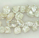 Freshwater pearl bigger beads, 5*20*25 mm keshi. Sold per 15.7-inch strand.