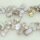 Reborn freshwater pearl bigger beads,Purple,5*20*25mm