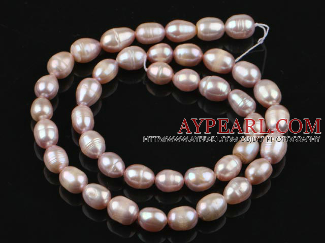 Rice Shape Freshwater Pearl Beads,Natural Purple, 7-8mm, Sold per 14.6-Inch Strand