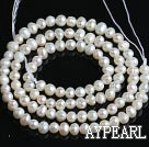 Freshwater Pearl Beads, Natural White, 3-3.5mm, Sold per 14.2-Inch Strand