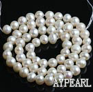 Freshwater Pearl Beads, Natural White, 5-6mm, Sold per 14.6-Inch Strand