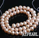 Freshwater Pearl Beads, Natural Pink, 7-8mm, Sold per 14.6-Inch Strand