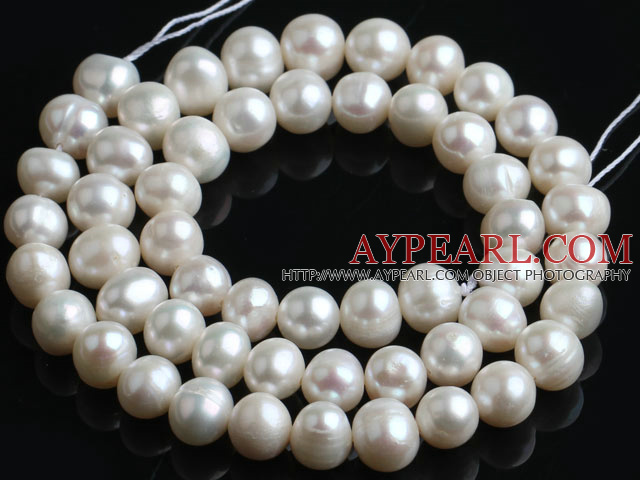Freshwater Pearl Beads, Natural White, 7-8mm, Sold per 14.6-Inch Strand