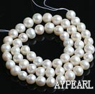 Freshwater Pearl Beads, Natural White, 7-8mm, Sold per 15-Inch Strand