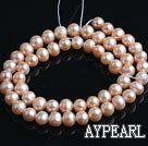 Freshwater Pearl Beads, Natural Pink, 7-8mm, Sold per 15-Inch Strand