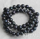 Freshwater Pearl Beads, Natural Black, 7-8mm, Sold per 15-Inch Strand