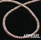 Pearl Beads, Purple, 6-7mm natural abacus shape, Sold per 15-inch strand