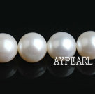 Freshwater Pearl Beads, Natural White, 10-11mm, Nearly Round, Sold per 15.7-Inch Strand,10-11mm
