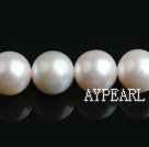 Freshwater Pearl Beads, Natural White, 10-11mm, A Grade, Nearly Round, Sold per 15.7-Inch Strand,10-11mm