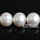 Freshwater Pearl Beads with Growth Grain, Natural White, 11-12mm, Nearly Round, Sold per 15.4-Inch Strand,11-12mm