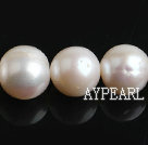 Freshwater Pearl Beads, Natural White, 11-12mm, Nearly Round, Sold per 15.7-Inch Strand,11-12mm