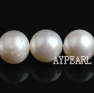 Freshwater Pearl Beads, Natural White, 11-12mm, Round, Sold per 15.7-Inch Strand,11-12mm