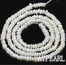 Freshwater Pearl Beads, Natural White, 2.8-3mm, Abacus Shape Pearl, Sold per 14.8-Inch Strand,2.8-3mm
