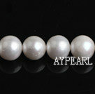 Freshwater Pearl Beads, Natural White, 9-10mm, A Grade, Round, Sold per 15.7-Inch Strand,9-10mm