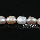Pearl Beads, Three Color, 8-9mm natural baroque, Sold per 14.8-inch strand