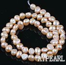 Pearl Beads, Pink, 6-7mm natural potato shape, Sold per 14.2-inch strand