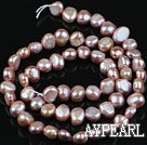 Pearl Beads, Purple, 6-7mm natural potato shape, Sold per 14.2-inch strand