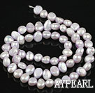 Pearl Beads, Light Purple, 6-7mm dyed, potato shape, Sold per 14.2-inch strand