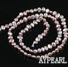 Pearl Beads, Purple, 3-4mm natural, potato shape, Sold per 14.2-inch strand