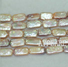 Biwa freshwater pearl beads,purple,  5*14*20mm rectangle. Sold per 15-inch strand.