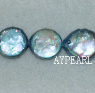 Freshwater pearl beads, blue, 5*13mm coin. Sold per 15-inch strand.