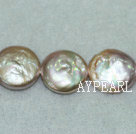 Freshwater pearl beads, purple, 5*13mm coin. Sold per 15-inch strand.