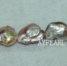 Nucleated freshwater pearl beads, purple, 5*10*17mm keshi. Sold per 15.7-inch stran.