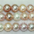 Freshwater pearl beads, multi-color, 8-9mm round. A grade. Sold per 15.7-inch strand
