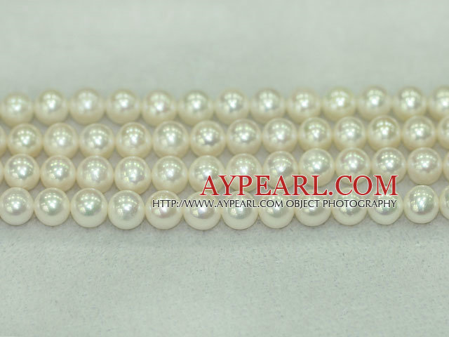Freshwater pearl beads, purple, 9-10mm round. A+ grade. Sold per 15.7-inch strand