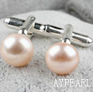 Natural 11.5-12mm Pink Freshwater Pearl Cufflinks